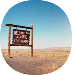 The badge for the Colorado OuterSpatial community.