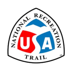 The badge for the National Recreation Trails OuterSpatial community.