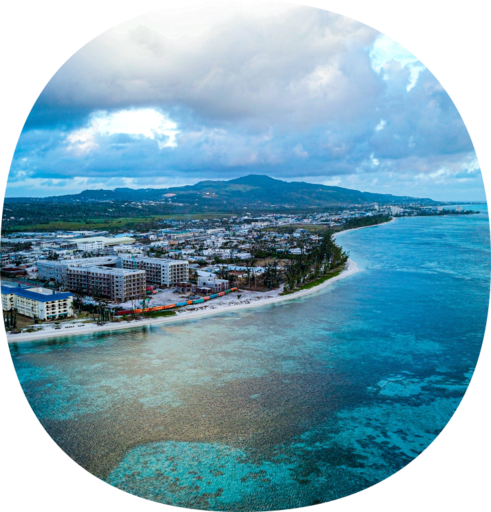 The badge for the Northern Mariana Islands OuterSpatial community.